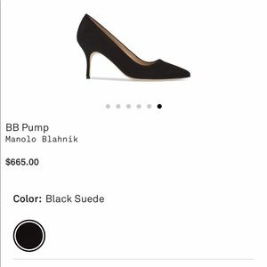 Black suede shoes - Manolo Blahnik